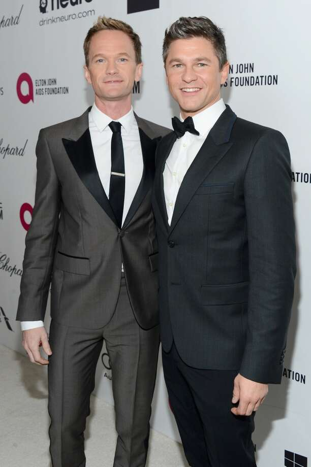 Actor Neil Patrick Harris (L) and David Burtka attend the 22nd Annual Elton John AIDS Foundation's Oscar Viewing Party on March 2, 2014 in Los Angeles, California. Photo: Mark Davis, Getty Images For EJAF