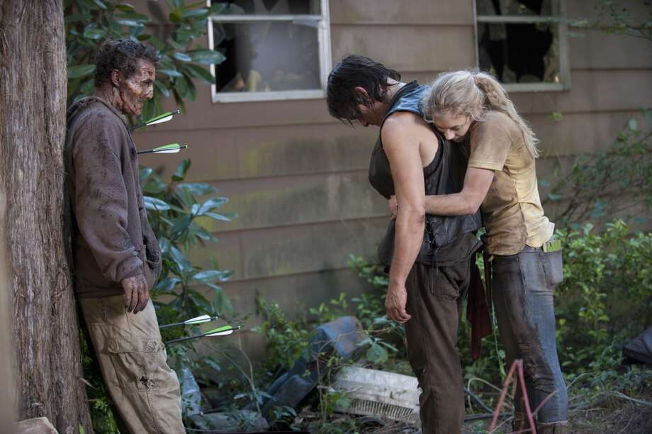 Daryl Dixon (Norman Reedus) and Beth Greene (Emily Kinney) - The Walking Dead _ Season 4, Episode 12 - Photo Credit: Gene Page/AMC