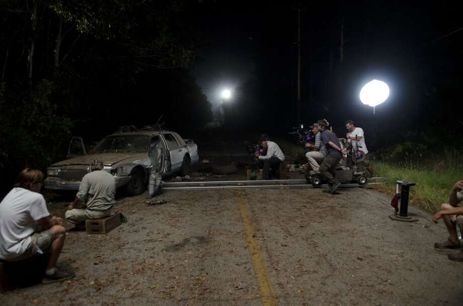 Car - The Walking Dead _ Season 4, Episode 12 _ BTS - Photo Credit: Gene Page/AMC