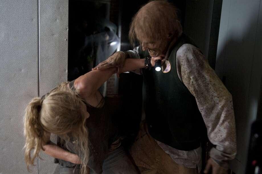 Beth Greene (Emily Kinney) and Walker - The Walking Dead _ Season 4, Episode 12 - Photo Credit: Gene Page/AMC
