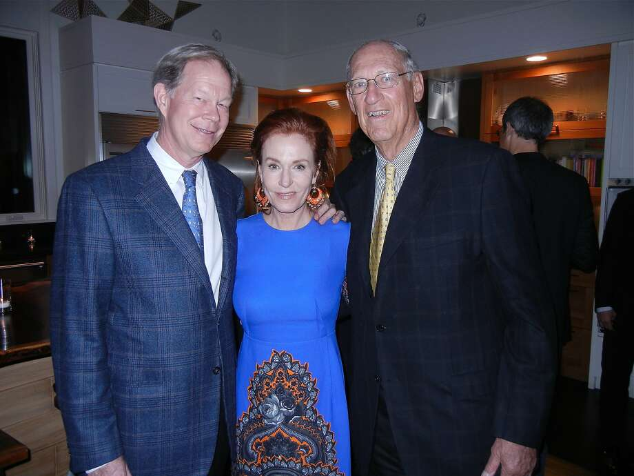 George and Brenda Jewett (left) with architect Arthur Gensler. Photo: Catherine Bigelow, Special To The Chronicle