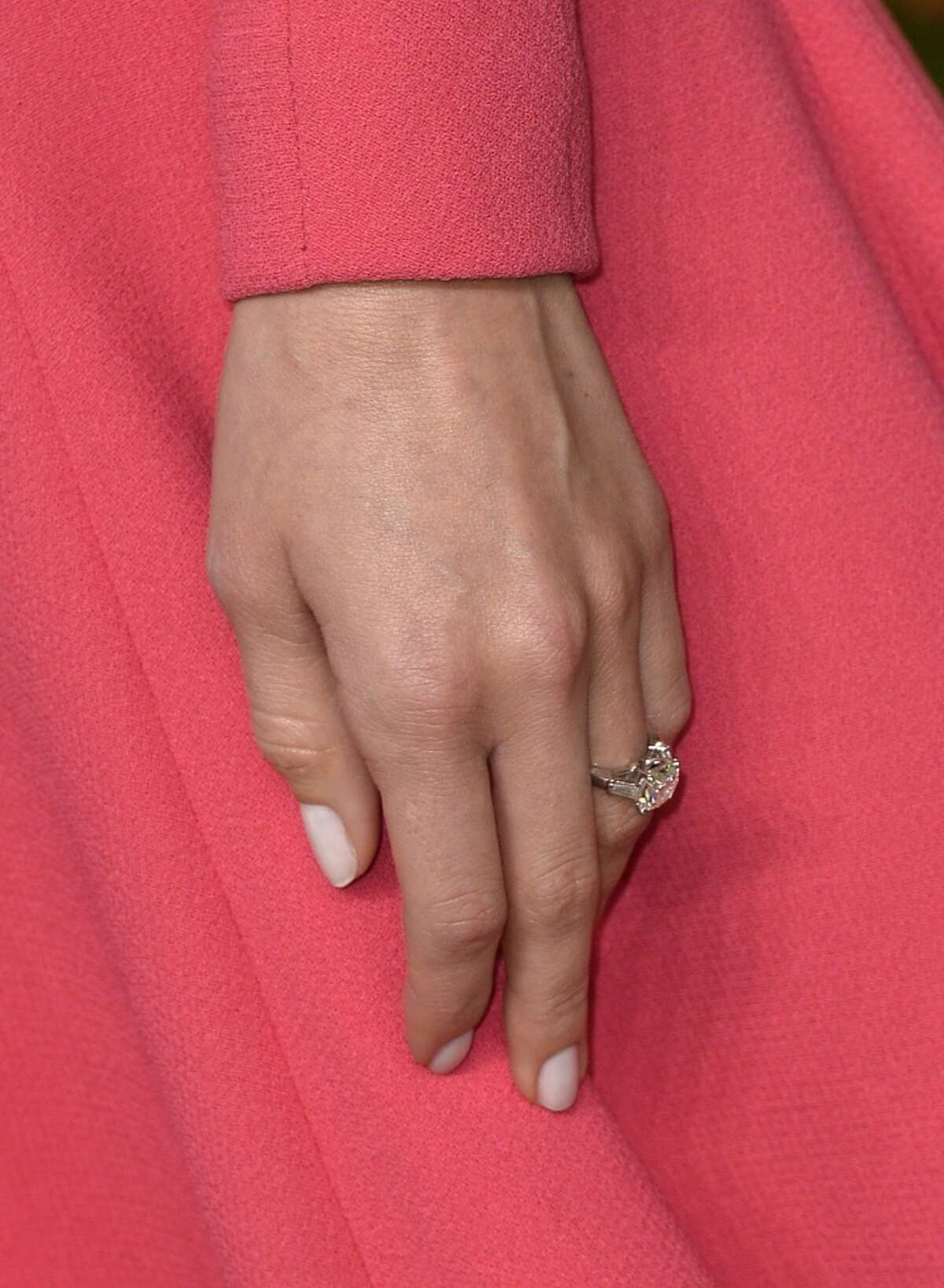 Allison Williams The Girls star was spotted with this ring at the 2014 Vanity Fair Oscar Party.
