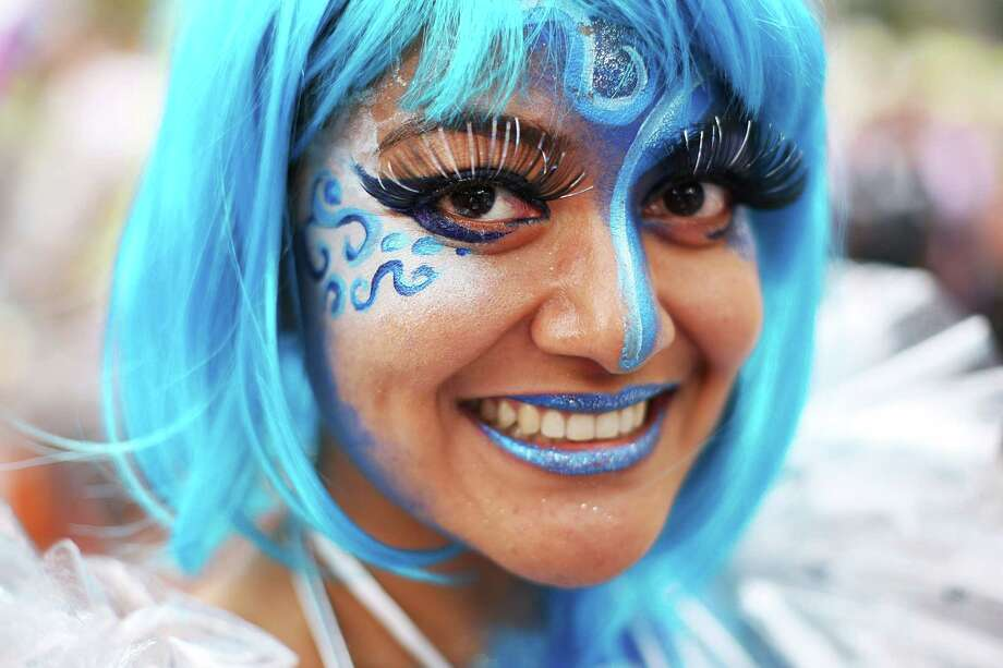 A parade goer poses prior to the 2014 Sydney Gay & Lesbian Mardi Gras Parade on March 1, 2014 in Sydney, Australia. The Sydney Mardi Gras parade began in 1978 as a march and commemoration of the 1969 Stonewall Riots of New York. It is an annual event promoting awareness of gay, lesbian, bisexual and transgender issues and themes. Photo: Brendon Thorne, Getty Images / 2014 Getty Images