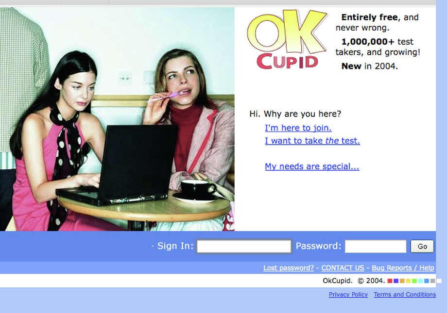 OK Cupid Launched 2004 Photo: Wayback Machine
