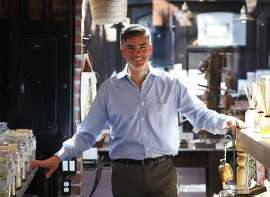 Albert Nichols, the creator of elizabethW, poses for portraits in his store in Ghiradelli Square on February 19, 2014 in San Francisco, Calif. elizabethW sells perfume and gifts designed by Nichols.