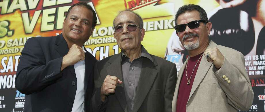 Mike Ayala (from right), Jesse Leija and Rafael Ramos are the latest additions to the San Antonio Boxing Hall of Fame. Photo: Kin Man Hui / San Antonio Express-News / ©2013 San Antonio Express-News