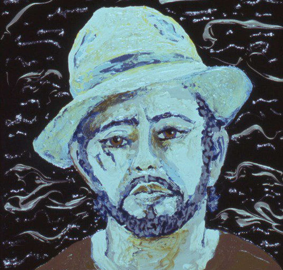 This Mel Casas painting is part of his