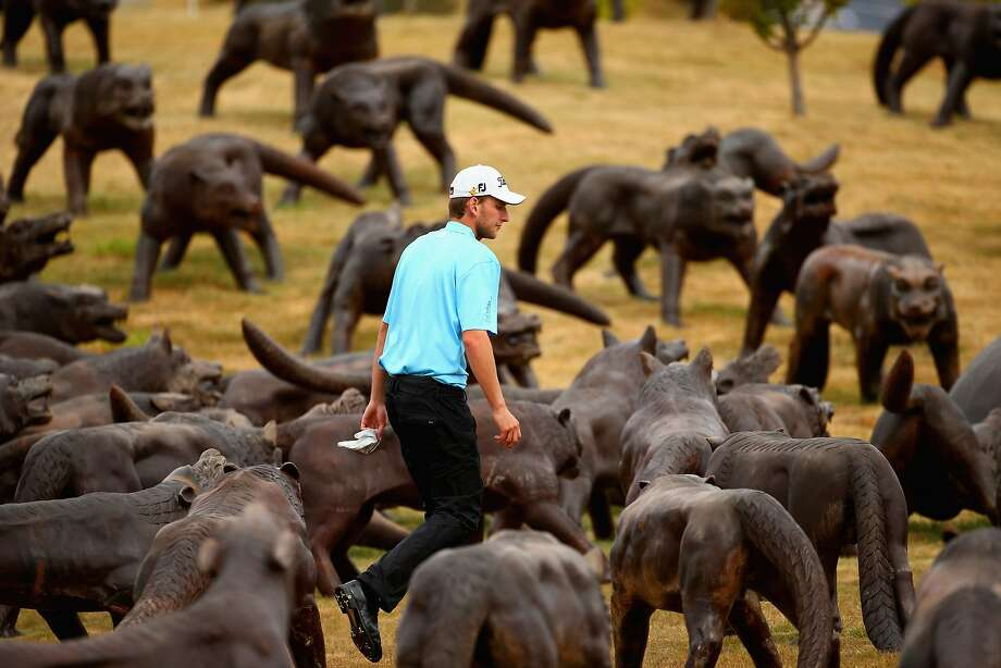 Stuck in the ruff: Sand traps are the least of David Klein's worries after missing the 