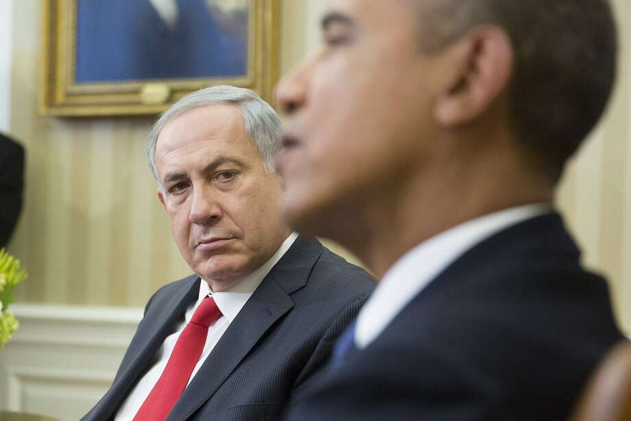 Israeli Prime Minister Benjamin Netanyahu meets with President Obama at the White House. Photo: Pool, Getty Images