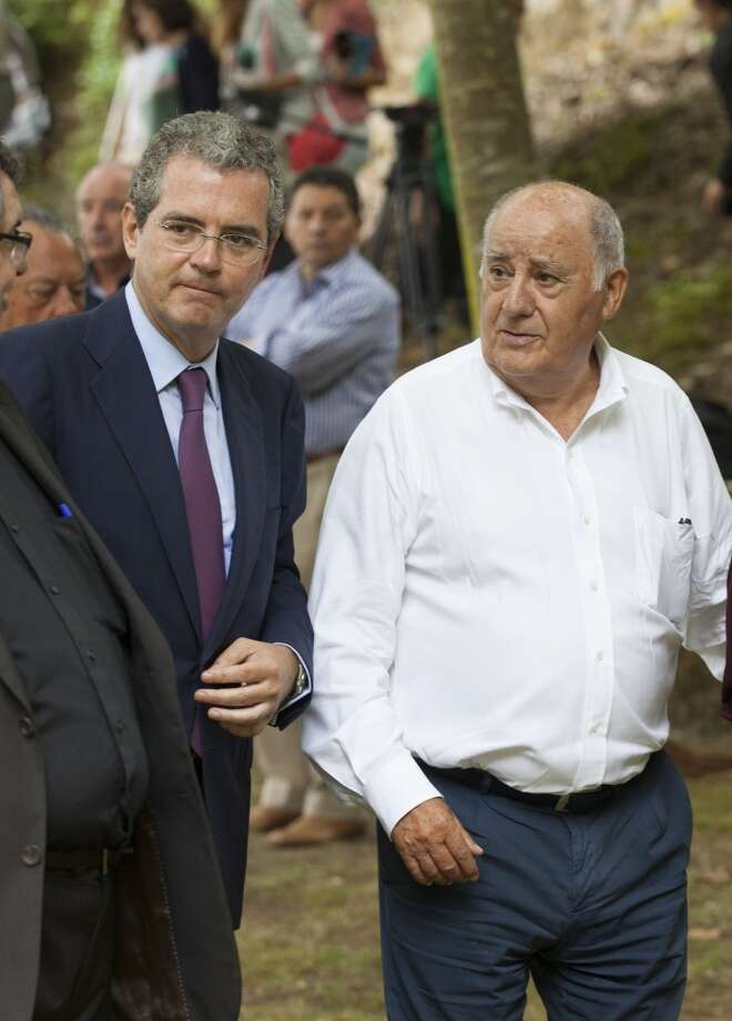 3. Amancio Ortega (right), co-founder of Inditex Net w orth: $64 billion Age: 77 Residence: La Coruna, Spain Photo: Xurxo Lobato, Getty Images