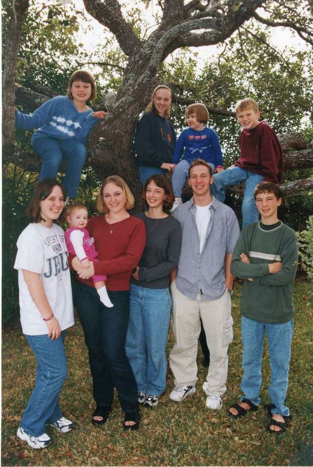 Now: The second one was taken in 2013. In the tree (L to R): Jeni Quante, Ashlee Davison, Emily Beissner, Alex Quante; standing (L to R): Whitney Beissner, Kelly Beissner, Calee Beissner, Sondra Walker, Brad Beissner, Nick Quante Photo: Courtesy