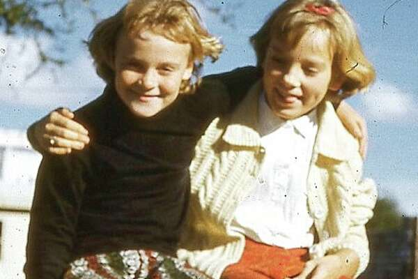 Then: Best Friends! Georganne (Hays) Gum & Susan (Gerulatt) Closner. We have been best friends since 1954.  I was 2, and Susan was 4. The first picture was taken in 1961 in Castle Hills where we grew up.  We were next door neighbors.