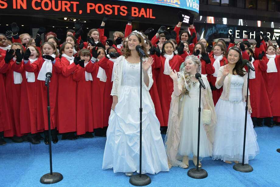 "Schoolchildren perform a sing-along of ""Let It Go,"" the Oscar-winning song from ""Frozen"" during a recent ""Good Morning America"" in New York. A reader says that while the song has great lyrics, there is one phrase she could do without. Photo: Slaven Vlasic / Getty Images / 2014 Getty Images"