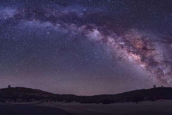 The summer Milky Way rises over the McDonald Observatory near Fort Davis, Texas.   By:  John Davis/Stocktrek Images    Collection:  Stocktrek Images