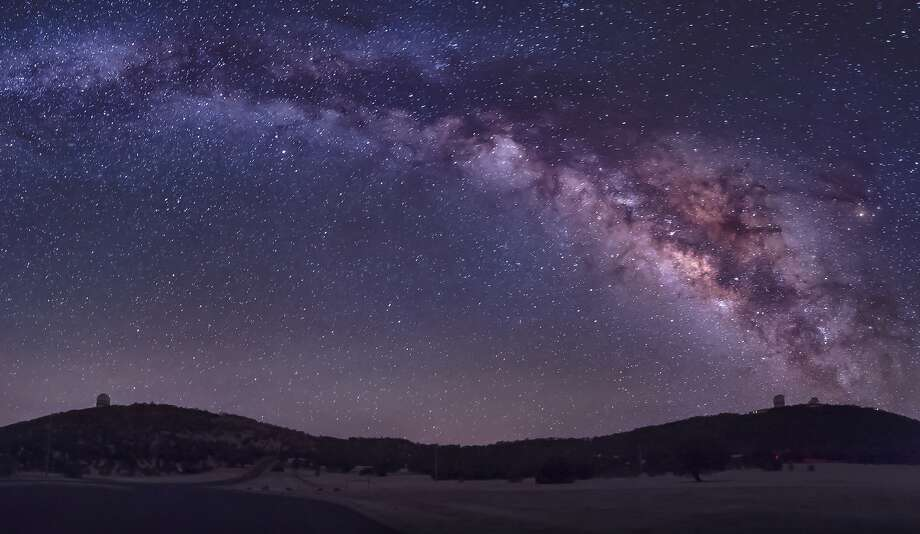 The Milky Way, seen over the McDonald Observatory near Fort Davis, Texas.