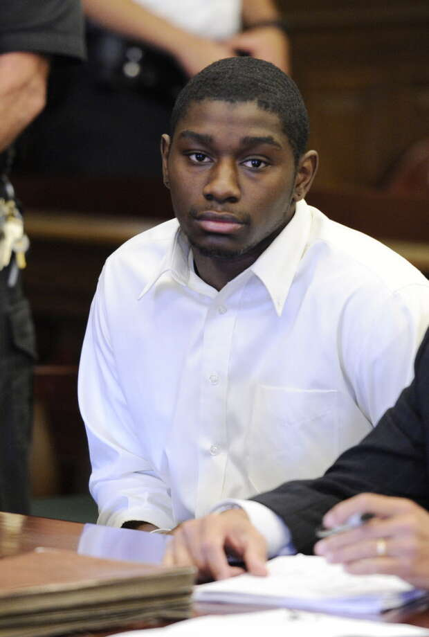 Ariel Myers listens to his sentencing by Judge Andrew Cersia in the Rensselaer County Courthouse in Troy  September 13, 2010.  (Skip Dickstein/Times Union) Photo: Skip Dickstein / 2008