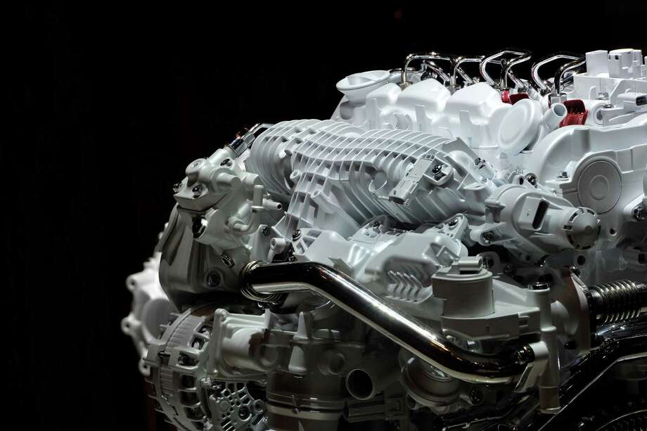 A Volvo engine is displayed ahead of the opening day of the 84th International Motor Show which will showcase novelties of the car industry on March 3, 2014 in Geneva, Switzerland. Photo: Harold Cunningham, Getty Images / 2014 Getty Images