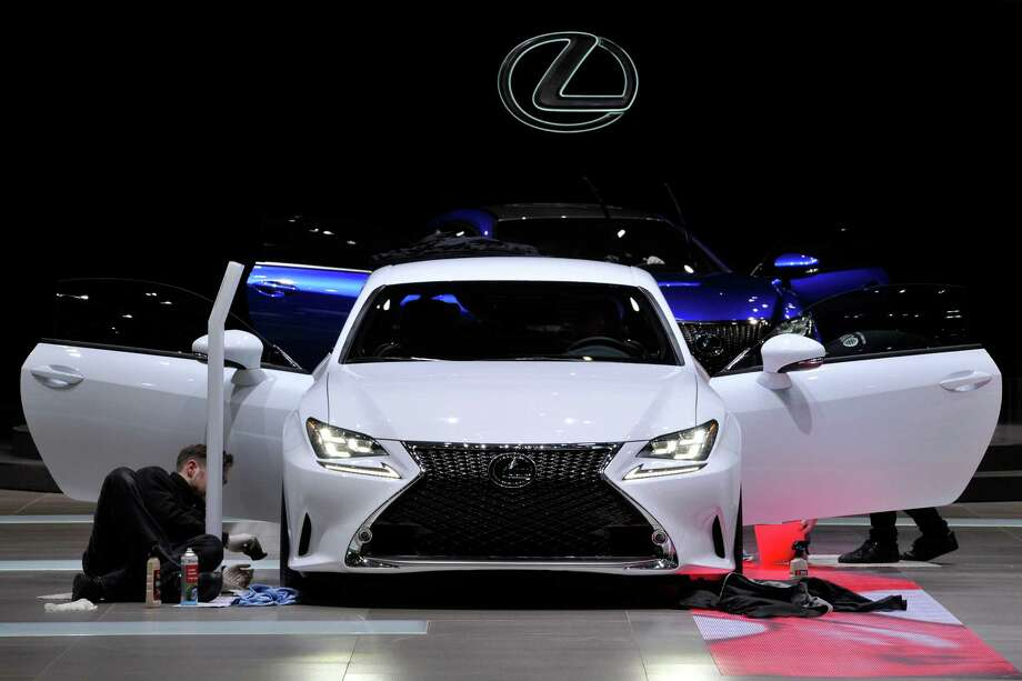 A Lexus is prepared ahead of the opening day of the 84th International Motor Show which will showcase novelties of the car industry on March 3, 2014 in Geneva, Switzerland. Photo: Harold Cunningham, Getty Images / 2014 Getty Images