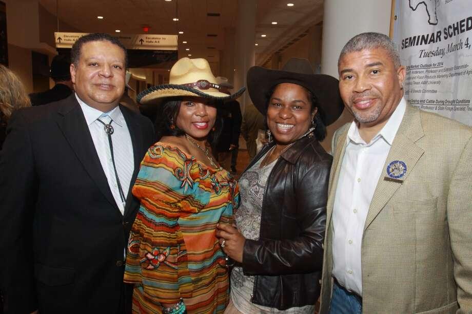 Frank and Demetra Jones, from left, with Paula and Dwayne Harris Photo: Gary Fountain, For The Chronicle