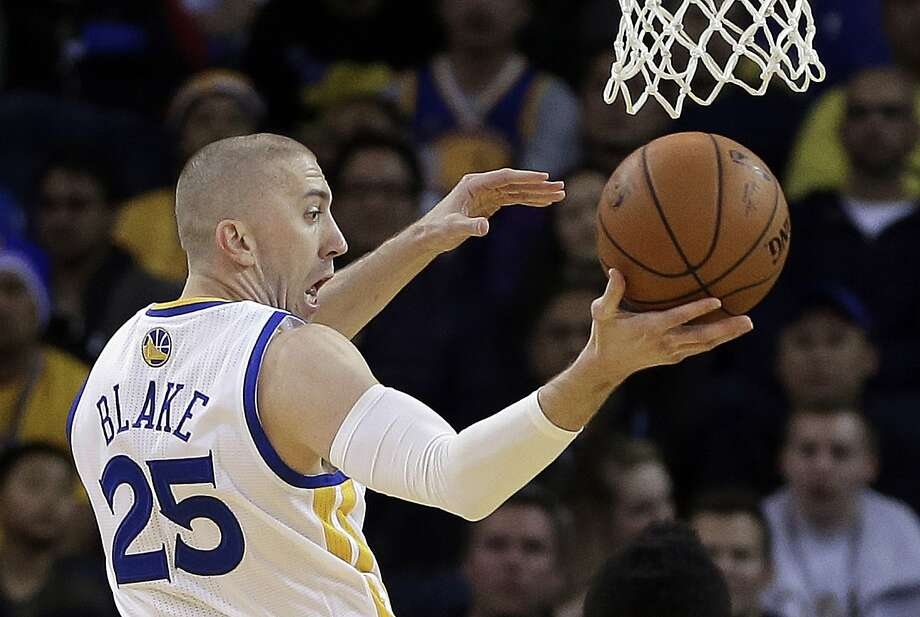 Steve Blake, after less than two weeks with the Warriors, has made a splash filling the gap Jarrett Jack left on the bench. Photo: Ben Margot, Associated Press