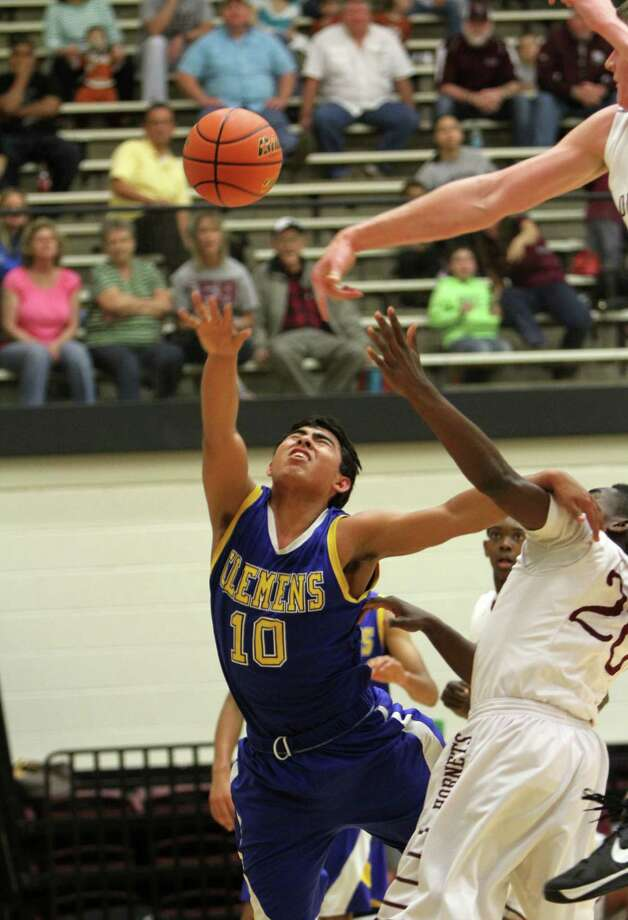 Clemens' Ernesto Castillo (10) is fouled during a win Friday over Corpus Christi Flour Bluff. Photo: Greg Bell / For The Northeast Herald