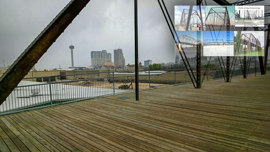 San Antonio skyline as seen from the Hays Street Bridge