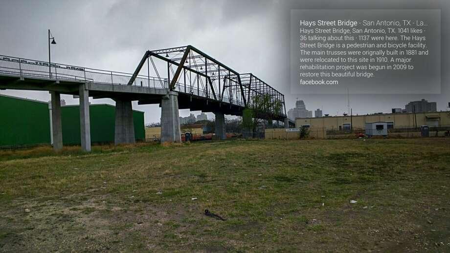 View of Hays Street Bridge from the ground
