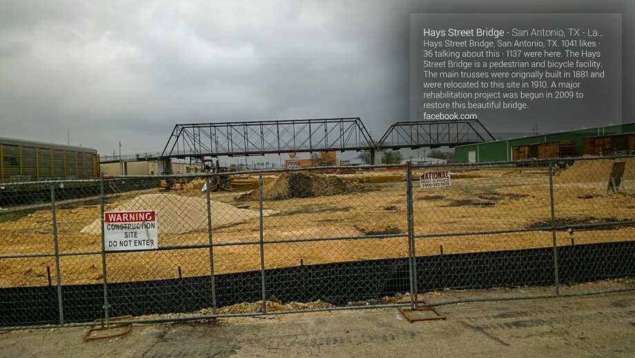 Construction near the Hays Street Bridge