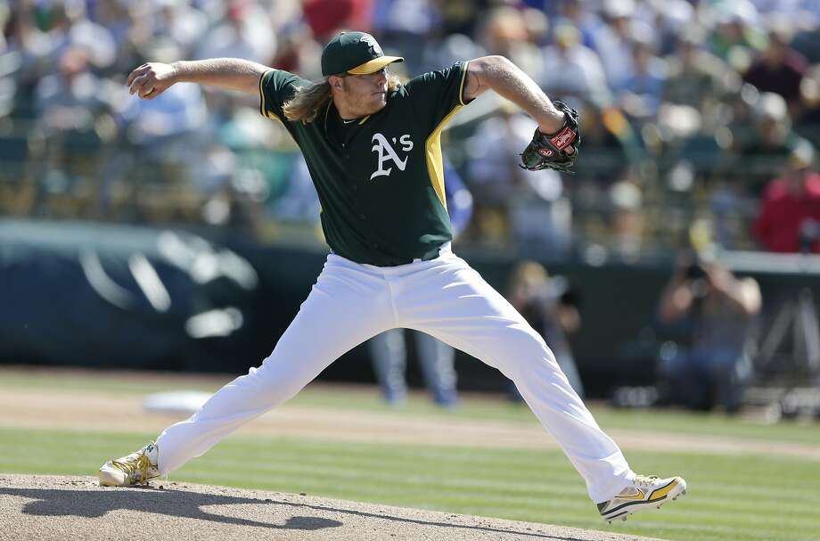 """A.J. Griffin replaced his cutter with a changeup that was his """"bread and butter"""" pitch in the minors. Photo: Gregory Bull, Associated Press"""