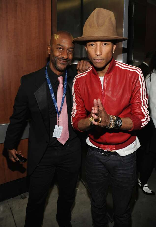 LOS ANGELES, CA - JANUARY 26:  Stehpen Hill and Pharrell Williams attend the 56th GRAMMY Awards at Staples Center on January 26, 2014 in Los Angeles, California.  (Photo by Kevin Mazur/WireImage) Photo: Kevin Mazur, WireImage
