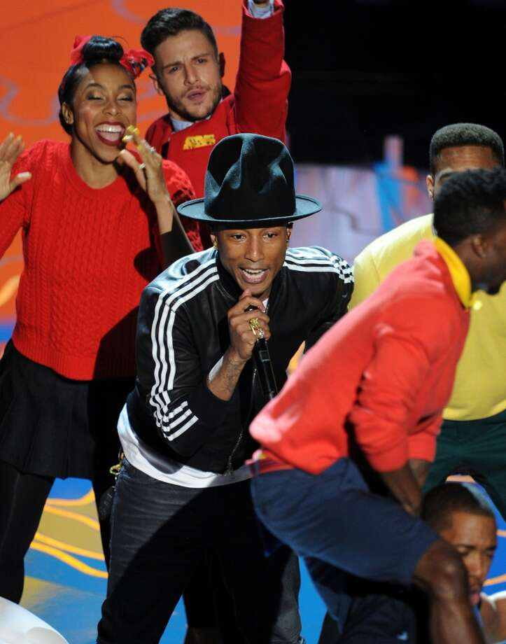HOLLYWOOD, CA - MARCH 02:  Singer Pharrell Williams performs onstage during the Oscars at the Dolby Theatre on March 2, 2014 in Hollywood, California.  (Photo by Kevin Winter/Getty Images) Photo: Kevin Winter, Getty Images