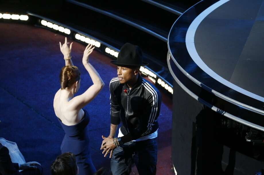 Pharrell Williams performs during the 86th annual Academy Awards on Sunday, March 2, 2014, at the Dolby Theatre at Hollywood & Highland Center in Los Angeles. (Robert Gauthier/Los Angeles Times/MCT) Photo: Robert Gauthier, McClatchy-Tribune News Service