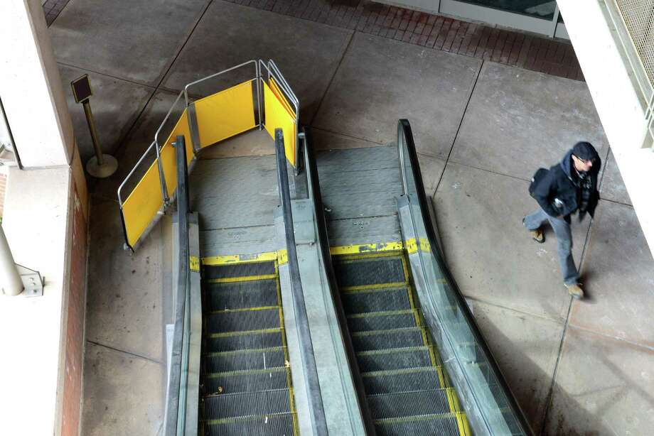 The upward escalator to the second floor of the parking garage at Albany International Airport is out of service Monday, March 3, 2014, in Colonie, N.Y. (Will Waldron/Times Union) Photo: WW