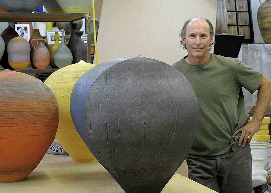 Former Greenwich resident and potter Nick Bernard, now based in Scottsdale, Ariz., can trace his lifelong passion for making pots to his days at Greenwich High School. Photo: Contributed Photo, Anne W. Semmes / Greenwich Time