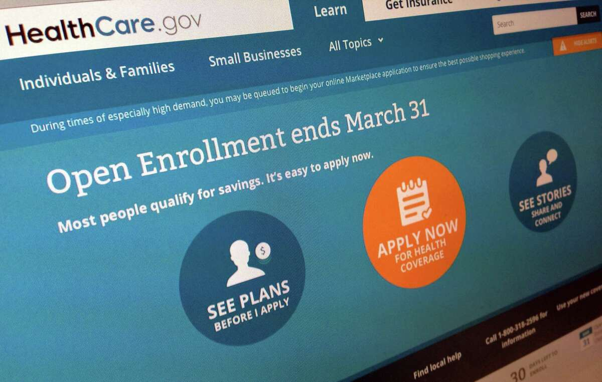 This March 1, 2014, photo shows part of the website for HealthCare.gov as photographed in Washington. Sick of hearing about the health care law? Plenty of people have tuned out after all the political jabber and website woes. Now is the time to tune back in, before itÆs too late. The big deadline is coming March 31. (AP Photo/Jon Elswick)