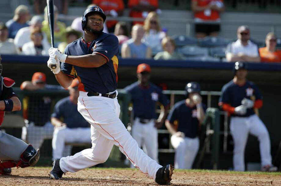 "Jon Singleton, suspended 50 games last year after a failed drug test, said ""it's pretty evident to me that I'm a drug addict."" Photo: Alex Brandon / Associated Press / AP"