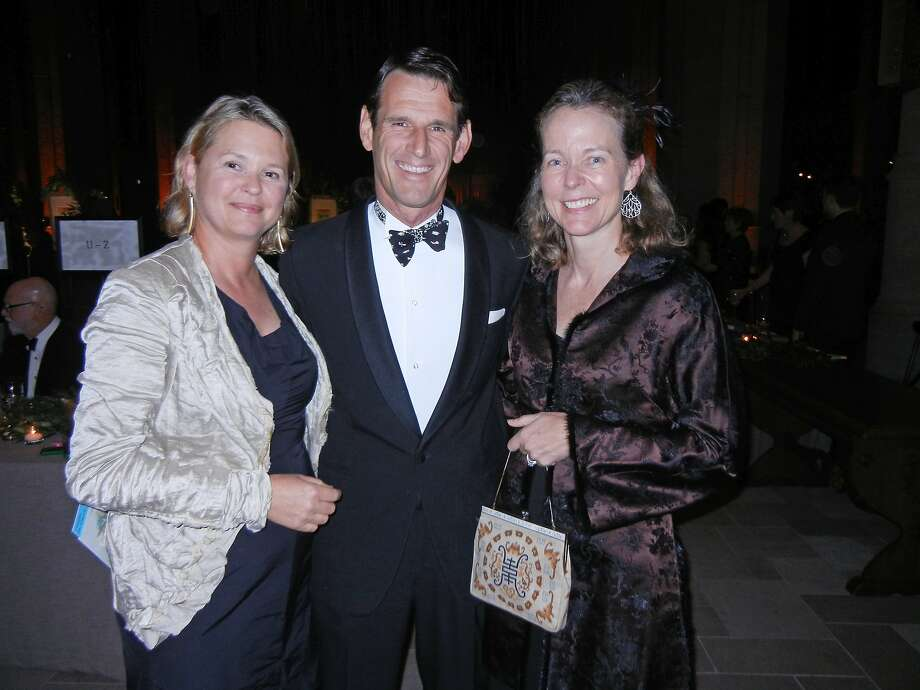 Carnivale chair Eliza Brown (left) with her brother-in-law and sister, Casper and Nina de Clercq. Photo: Catherine Bigelow, Special To The Chronicle