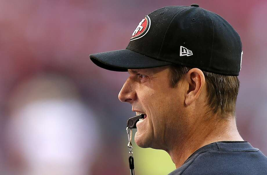 49ers head coach Jim Harbaugh has a lot on his plate this season, mixing in newcomers and a new stadium in Santa Clara. Photo: Ross D. Franklin, Associated Press