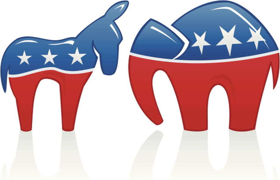 Political Icons Donkey Elephant Photo: Pukrufus, Pukrufus / IStock Vendors Via Getty Images / (c) pukrufus