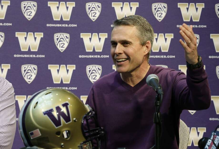 How do the Huskies adjust to Petersen's process? (continued) In Seattle, Petersen finds himself in the unenviable position of savior. Sarkisian helped bring the program back from dead, but Petersen will be expected to put the Dawgs back on top. Unlike his time in Boise, however, the Huskies will never be the biggest story in town as long as that Carroll guy across the lake keeps leading that professional outfit to championships. How Petersen handles being second-banana in a city now used to winning will be an interesting storyline to keep an eye on throughout his Washington tenure, and it all starts on Tuesday. Photo: Ted S. Warren, Associated Press
