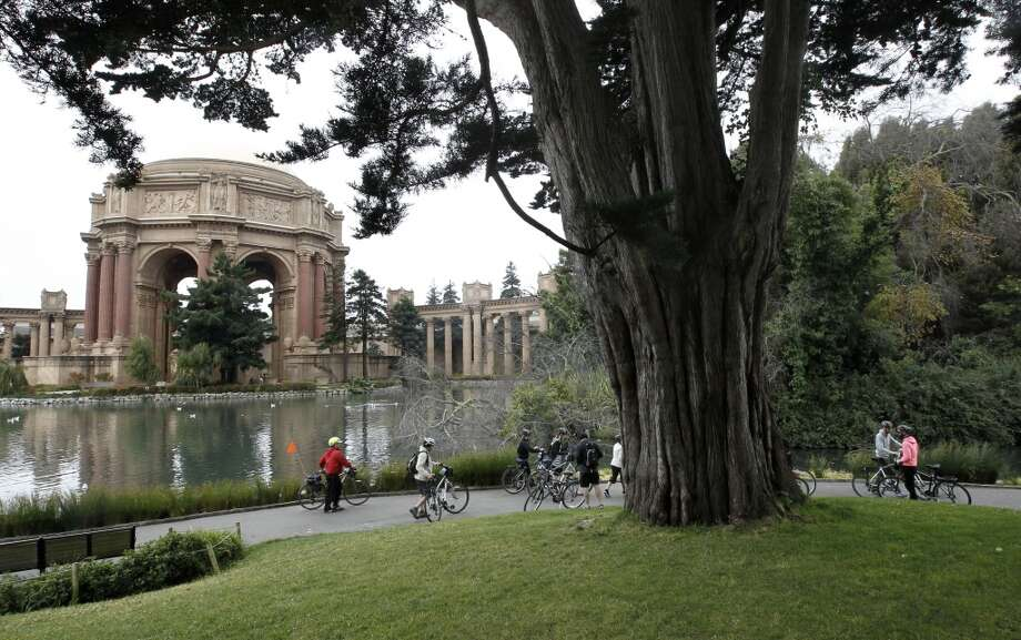 Palace of Fine Arts:According to the Palace of Fine Arts officials, 86,000 people visited the Palace of Fine Arts theatre in 2013. While they don't keep a log of how many visit the landmark itself, it's likely in the hundreds of thousands. Photo: Michael Macor, The Chronicle