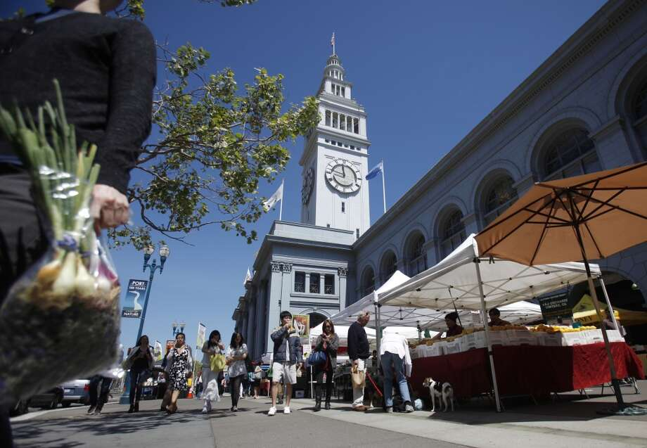 Ferry Building: Famous for its farmers market gatherings every Saturday, the Embarcadero/Ferry Building area boasts around 6 million visitors annually. Photo: Lea Suzuki, The Chronicle