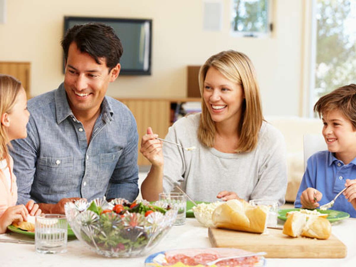 Regular family meals build appetite, relationships, control over salt and fat and a perfect opportunity to model healthy eating.