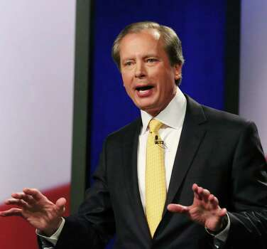 "FILE - In this Jan. 27, 2014 file photo, Republican Texas lieutenant governor candidate Lt. Gov. David Dewhurst speaks during a debate at KERA studios in Dallas. Three months after Dewhurst pledged to find $60 million ""as soon as possible"" to ramp up border security, aides now say troopers won't get the money until at least September _ and without any budget-swashbuckling the Republican vowed to wield with his power Photo: LM Otero, AP / AP"