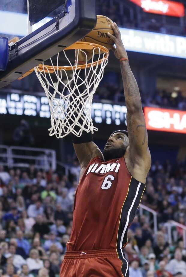 In 11 NBA seasons, Heat forward LeBron James has put himself in the discussion as one of the best players ever. Though Miami is the winner of back-to-back championships, James hasn't always had it easy against the Rockets.   James averages 25.6 points per game through 19 contests and has gone 9-10 against Houston. But since leaving Cleveland for the Heat, James has gone a perfect 5-0 against the Rockets. He will try to improve to .500 against the Rockets on Tuesday.  Here's a game-by-game look at the King's history against Houston. Photo: Rick Bowmer, Associated Press