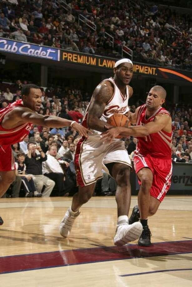 Cavaliers 91, Rockets 85 March 5, 2007  LeBron's stats: 32 points, 8 assists, 12 rebounds Photo: David Liam Kyle, NBAE Via Getty Images