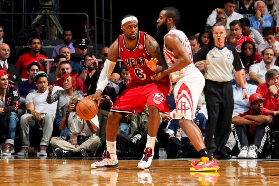 Heat 114, Rockets 108 Feb. 6, 2013  LeBron's stats: 32 points, 5 assists, 6 rebounds, 2 blocks Photo: Isaac Baldizon, NBAE Via Getty Images