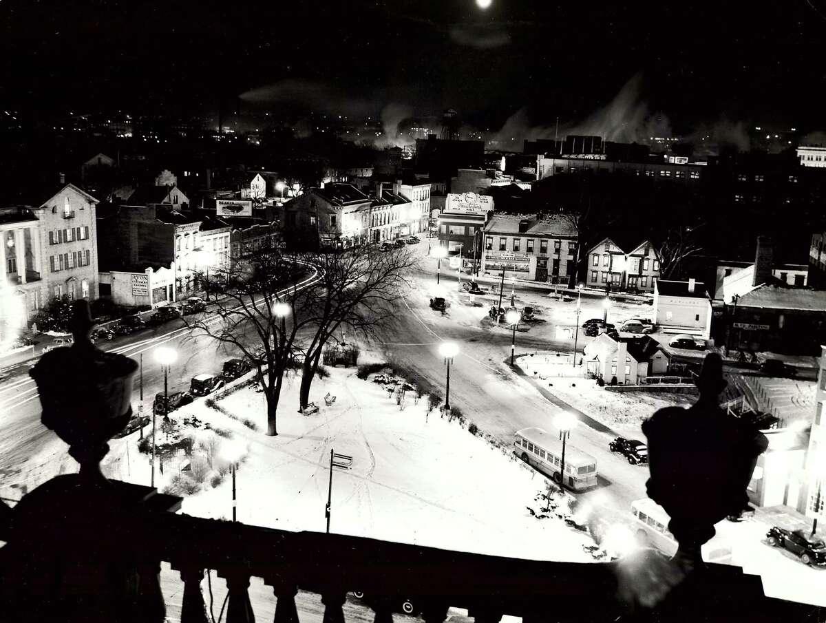Historic Schenectady: Downtown near Steinmetz Plaza, 1942.