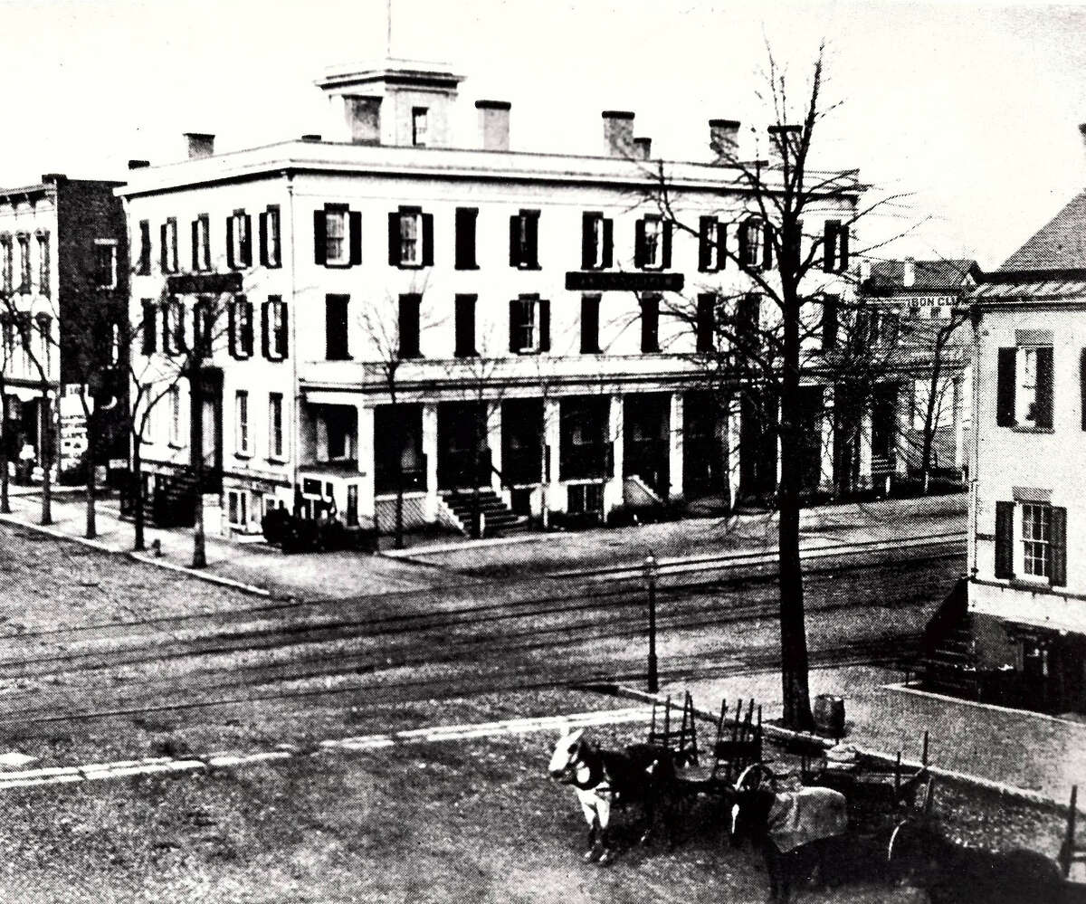 Historic Schenectady: Givens Hotel, replaced by the Hotel Edison, on State Street, c. 1870.