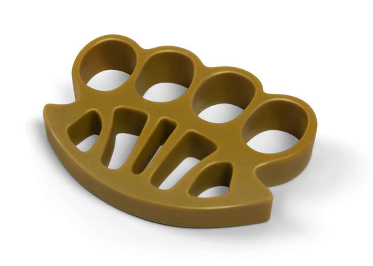 Carrying around brass knuckles is illegal under Texas law, and punishable up to a year in prison and a fine
